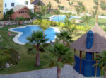 View of Garden and Swimming Pools from Balcony